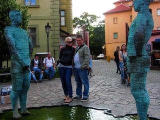 Praga, Mala Strana przed Muzeum Franza Kafki, penisy sterowane sms