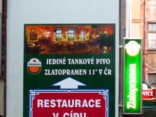 Praga, restauracja V Cipu
