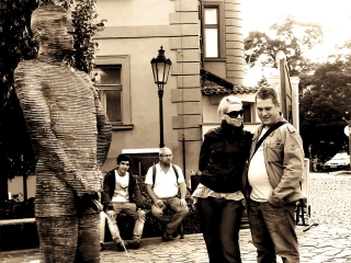 Praga, Dorota, Michał i sikająca rzeźba Davida Černého