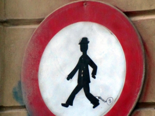 Czeski zakaz ruchu pieszych