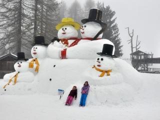 San Candido - bałwany na Croda Rossa - narty z dziećmi w Dolomitach
