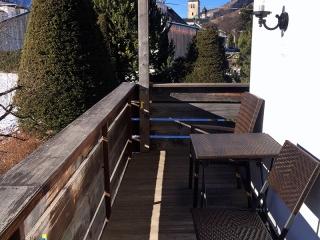 San Candido – balkon w Residence Emmy – narty z dziećmi w Dolomitach