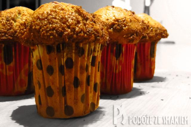 Cytrynowe muffiny z malinami