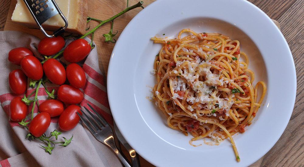 Pasta all'amatriciana - Podróże ze smakiem